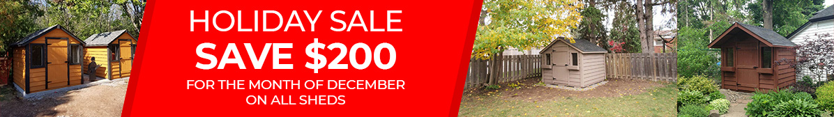 Save $200 on all sheds in December